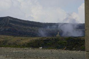 Rauch am gesperrten Krater