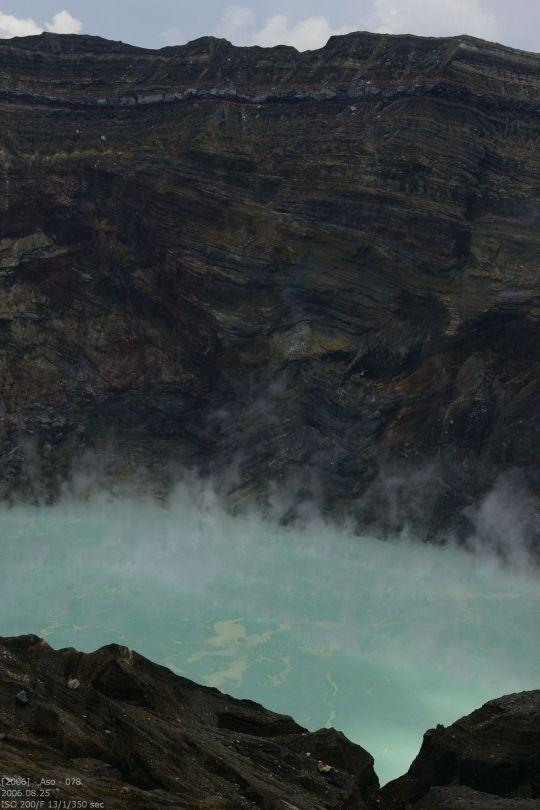 kochender Kratersee