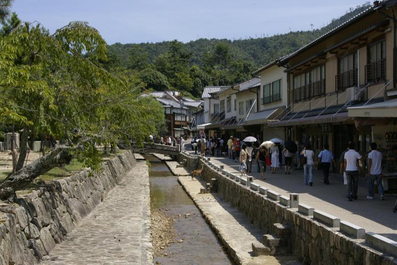 Fluß durch die Stadt