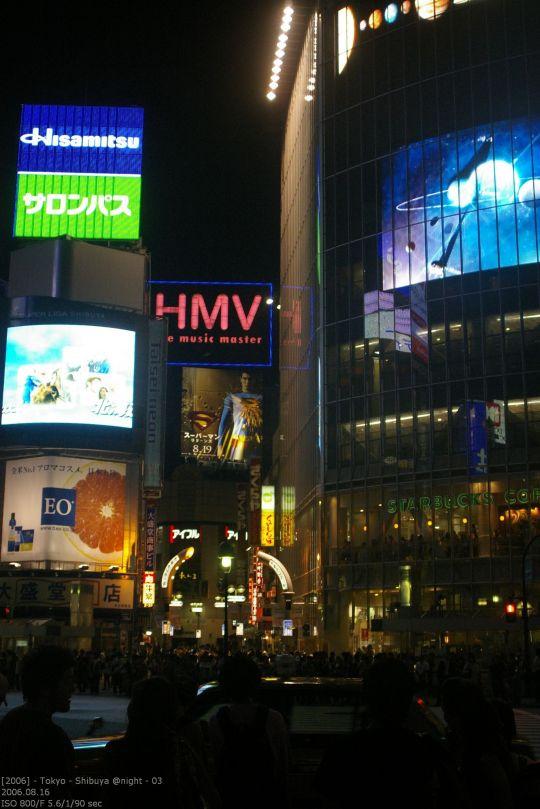 Shibuya @night - Bildschirme