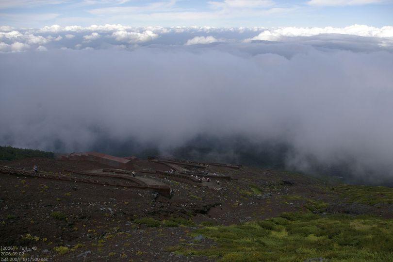 Fuji - Blick nach unten