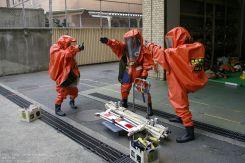 Hongo Fire Station Haz Mat Übung