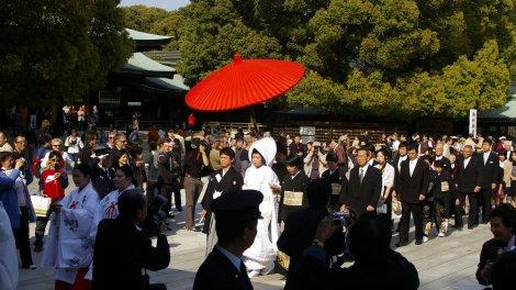 Hochzeit im Meiji Jingu