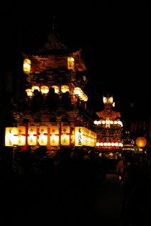 Takayama Matsuri - in die Nacht