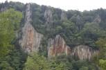 Basaltsäulen in der Sounkyo-Schlucht