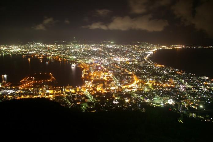 Hakodate at night
