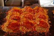 Okonomiyaki (die japanische Antwort auf Pizza)