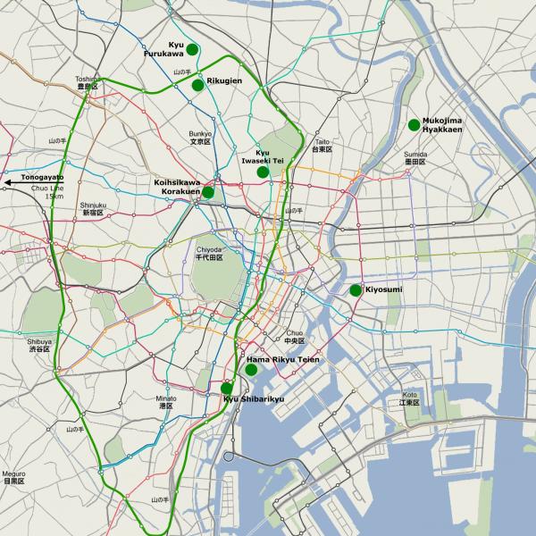 Tokyo Metropolitan Garden Map