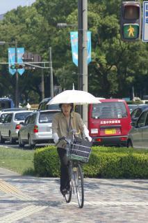 Sonnenschutz am Fahrrad