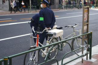 Dienstfahrrad der Polizei