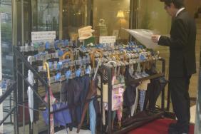 Regenschirmschließfach