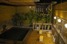 Rotenburo auf dem Hoteldach (Beppu)