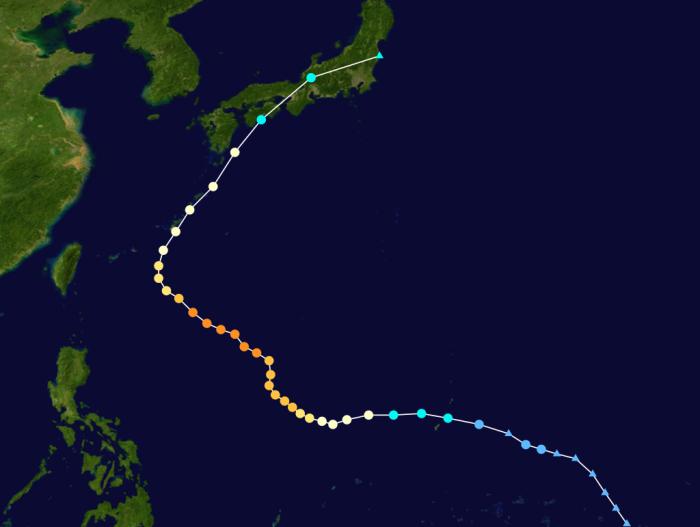 Taifun 23 .. Tokage (Siony) .. Katergorie 4 (Typhoon)