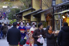 Geishas at Gion