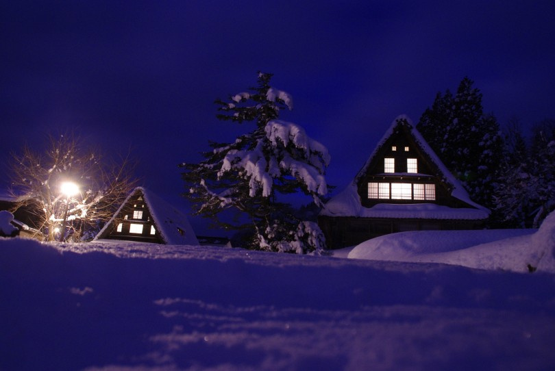 Ainokura at Night