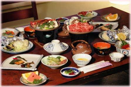 Standard (!) Dinner im Kiyoshigekan in Kusatsuonsen