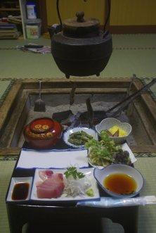 Choyomon, Ainokura, Abendessen