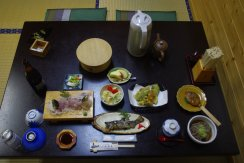 Hanaya, Tsumago, Abendessen