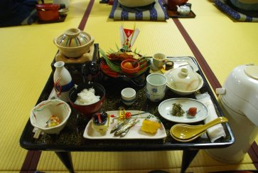 Uematsuya, Bessho Onsen, Frühstück