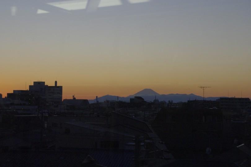 Fuji in Abenddämmerung