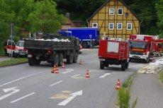 Sandsack-Transport der Bundeswehr