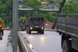 Sandsacktransport der Bundeswehr