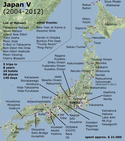 JapanVisitedPlaces
